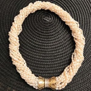 Jewelry - Offer-cultured pearl,14k &diamond torsade necklace